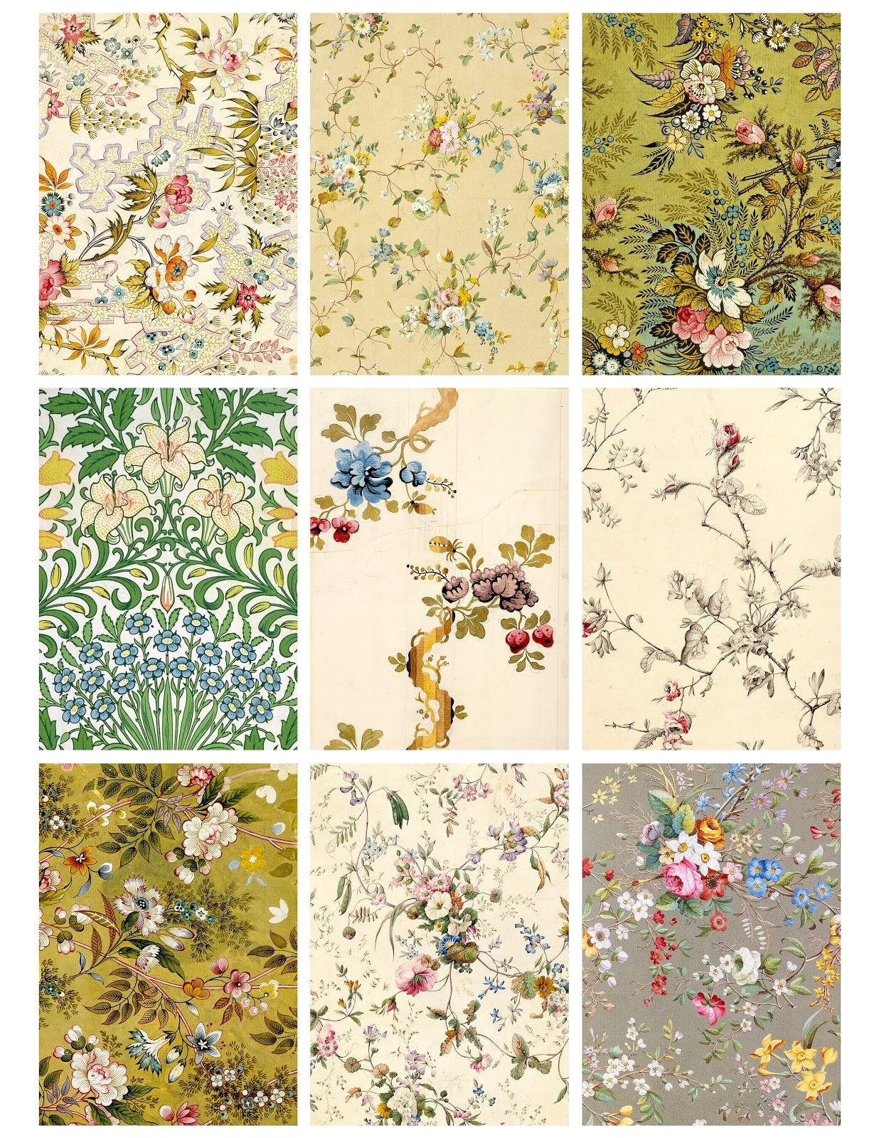 Free Printable Vintage Wallpaper - Wallpapersafari - Free Printable Wallpaper Patterns