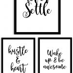 Free Printable Wall Art From @chicfetti   Perfect For Your Office Of   Free Printable Wall Art Quotes