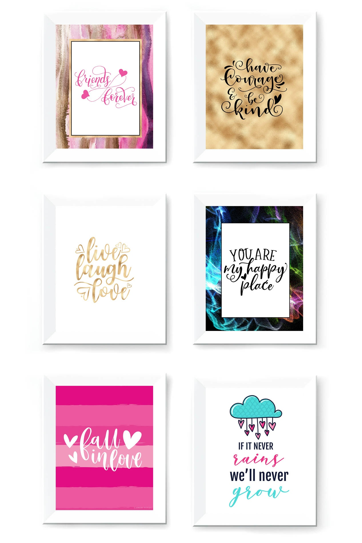 Free Printable Wall Art To Download Now - Sarah Titus - Free Printable Art