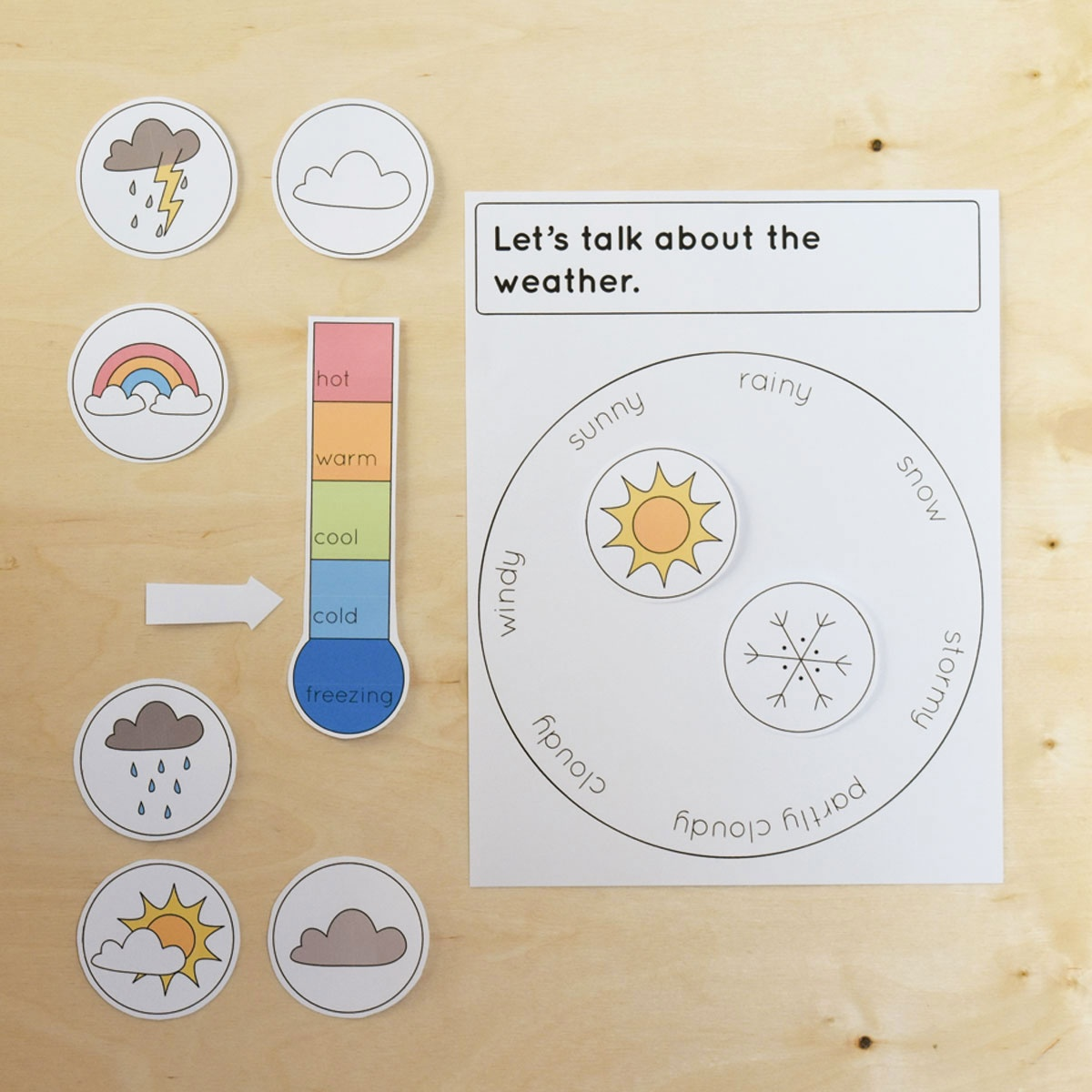 Free Printable Weather Chart - Bright Apple Blossom - Free Printable Weather Chart For Preschool