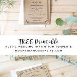 Free Printable Wedding Invitation Template | | Freebies | | Free   Free Printable Wedding Invitations