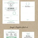 Free Printable Wedding Invitation Template | Wedding | Free Wedding   Free Printable Wedding Inserts