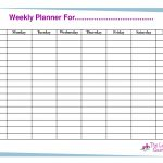 Free Printable Weekly Calendar Templates | Weekly Planner For Time – Free Printable Blank Weekly Schedule