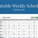 Free Printable Weekly Work Schedule Template For Employee Scheduling   Free Printable Work Schedule Maker