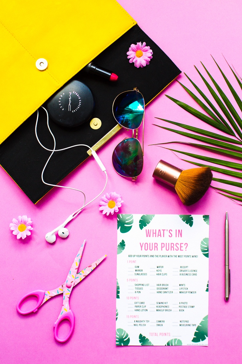 Free Printable 'what's In Your Purse?' Hen Party & Bridal Shower - Free Printable What's In Your Purse Game