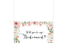 Free Printable Will You Be My Bridesmaid Card | Mountain Modern Life – Will You Be My Bridesmaid Free Printable