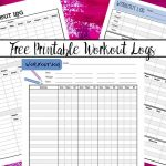 Free Printable Workout Logs: 3 Designs For Your Needs   Free Printable Workout Log