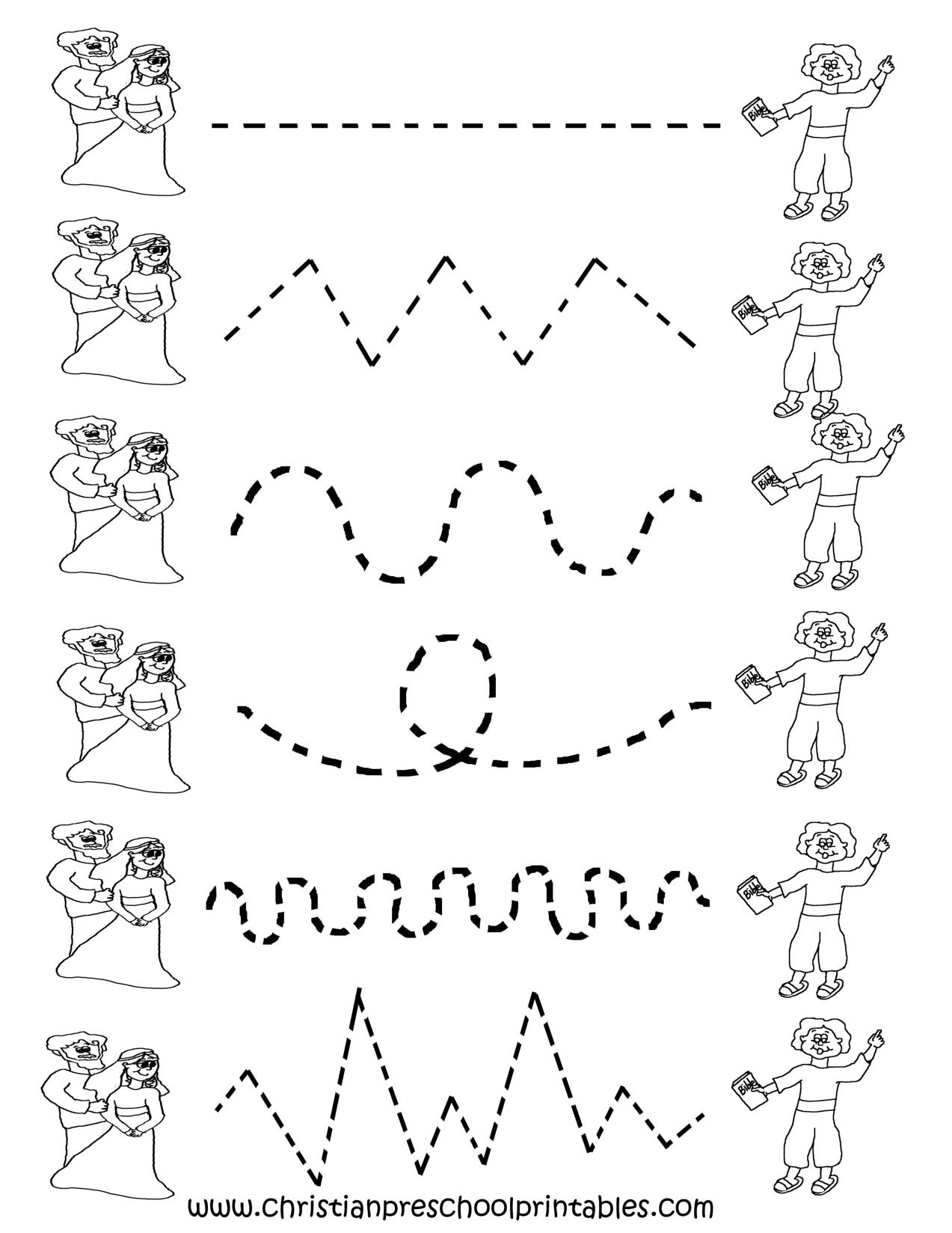 Free Printable Worksheets For Preschool | Preschool Tracing - Free Printable Tracing Worksheets