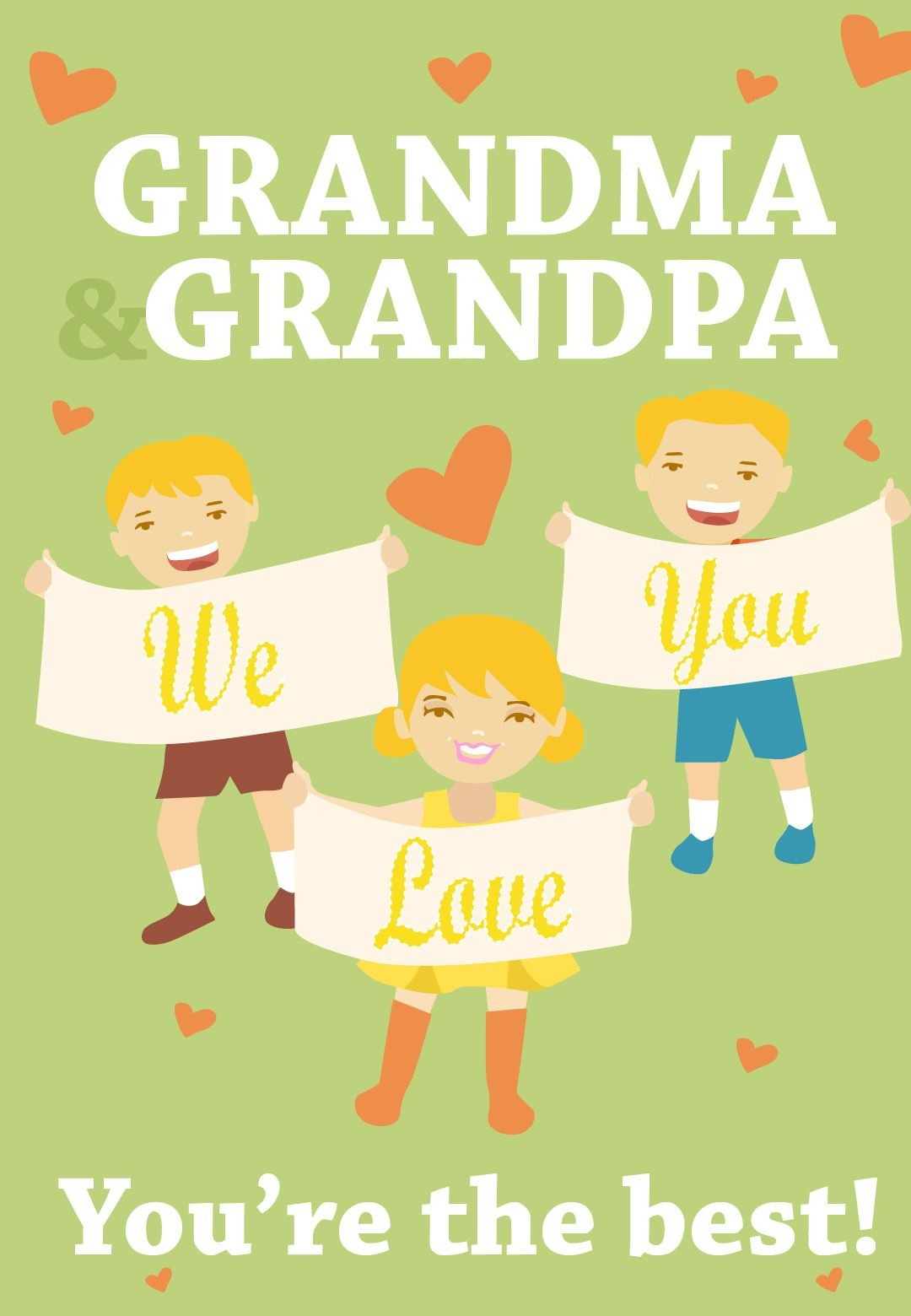 Free Printable Youre The Best Grandparents Greeting Card - Grandparents Day Cards Printable Free