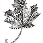 Free Printable Zentangle Maple Leaf Coloring Pagesunny Duran   Free Printable Pictures Of Autumn Leaves