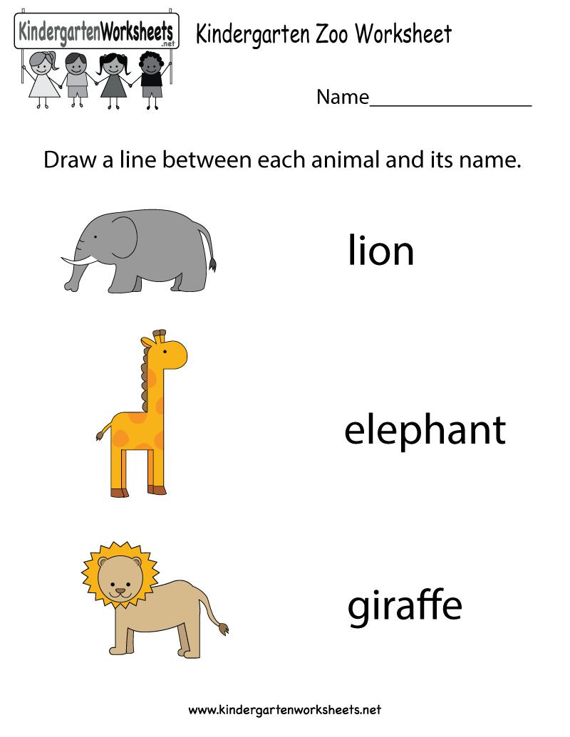 Free Printable Zoo Worksheet For Kindergarten - Free Printable Zoo Worksheets
