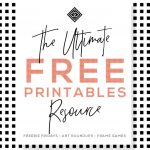 Free Printables • Free Wall Art Roundups • Little Gold Pixel   Free Black And White Printable Art