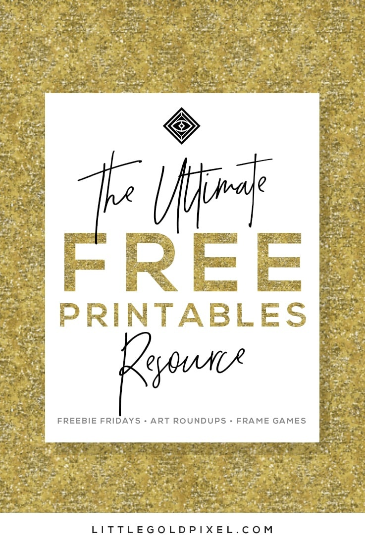 Free Printables • Free Wall Art Roundups • Little Gold Pixel - Free Printable Art