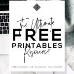 Free Printables • Free Wall Art Roundups • Little Gold Pixel   Free Printable Wall Art Black And White