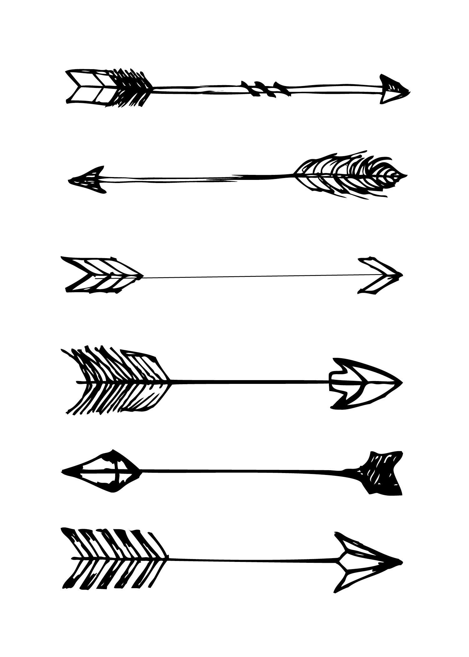 Free Printables | Printables - Wallpaper, Arrow Tattoos En Art - Free Black And White Printable Art