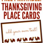 Free Printables: Thanksgiving Place Cards   Home Cooking Memories   Free Printable Thanksgiving Place Cards