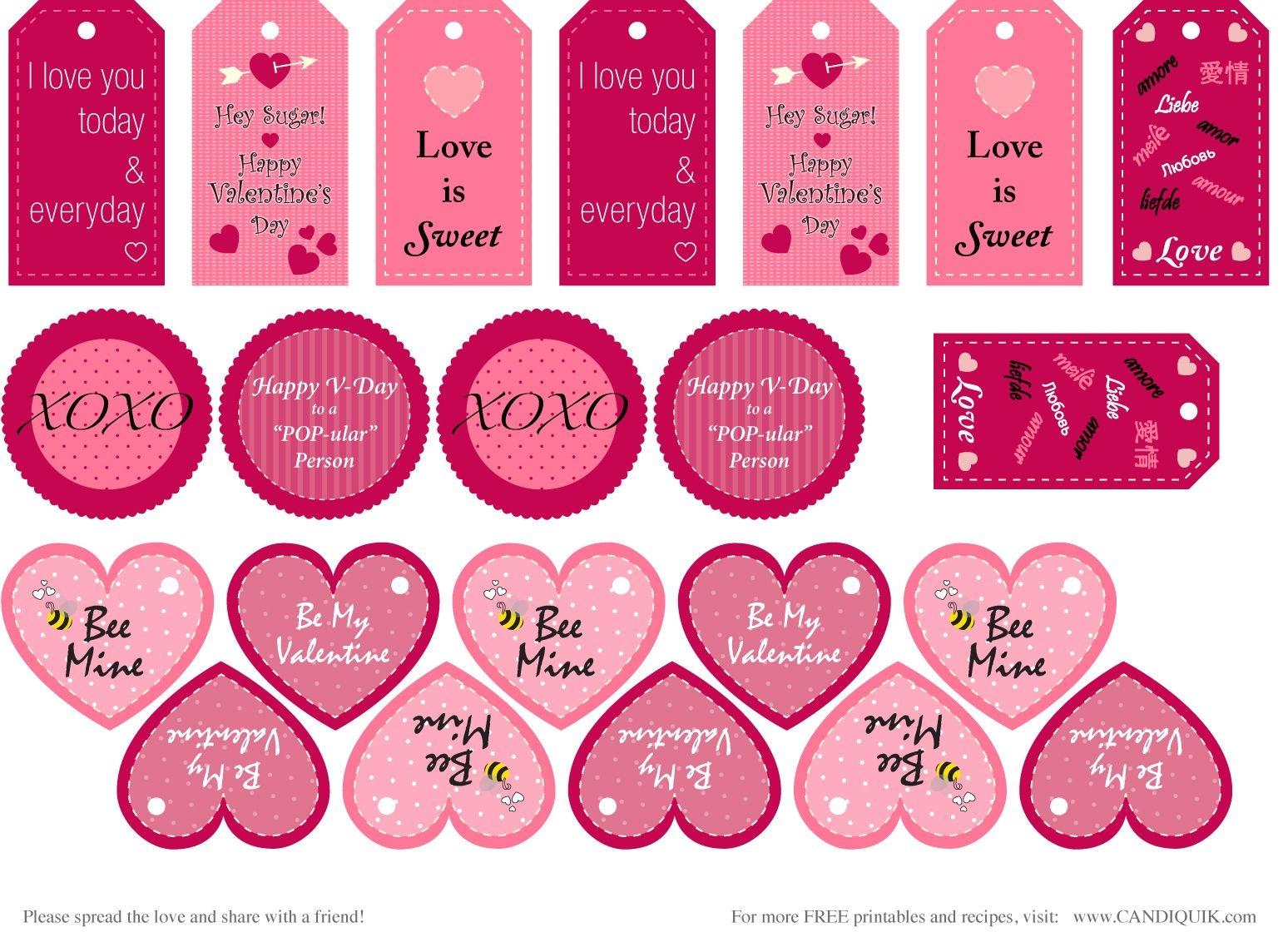 Free} Printables | Valentines | Valentine's Day Printables - Free Printable Valentines Day Tags