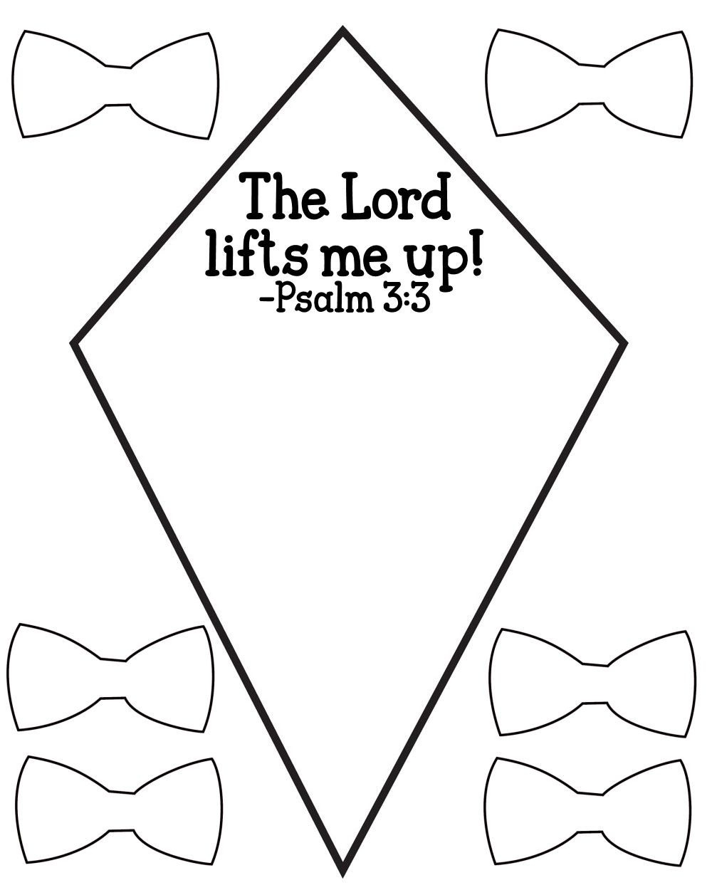 Free Psalm 3:3 Kids Bible Lesson Activity Printables - Free Printable Bible Crafts For Preschoolers
