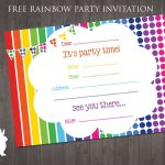 Free Rainbow Party Invitation | Ruby And The Rabbit | Rainbow Party   Happy Birthday Invitations Free Printable
