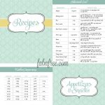 Free Recipe Binder In 3 Color Options | Recipe Binder Ideas   Free Recipe Book Templates Printable