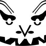 Free Scary Pumpkin Stencils   Free Printable Scary Pumpkin Patterns