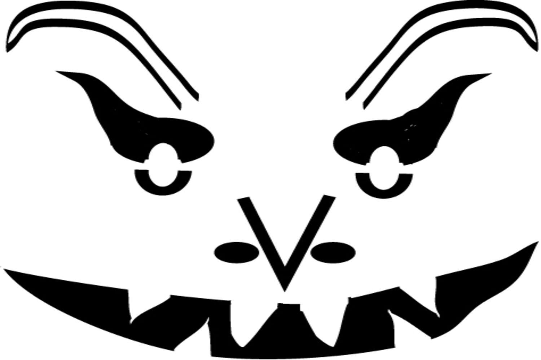 Free Scary Pumpkin Stencils - Free Printable Scary Pumpkin Patterns