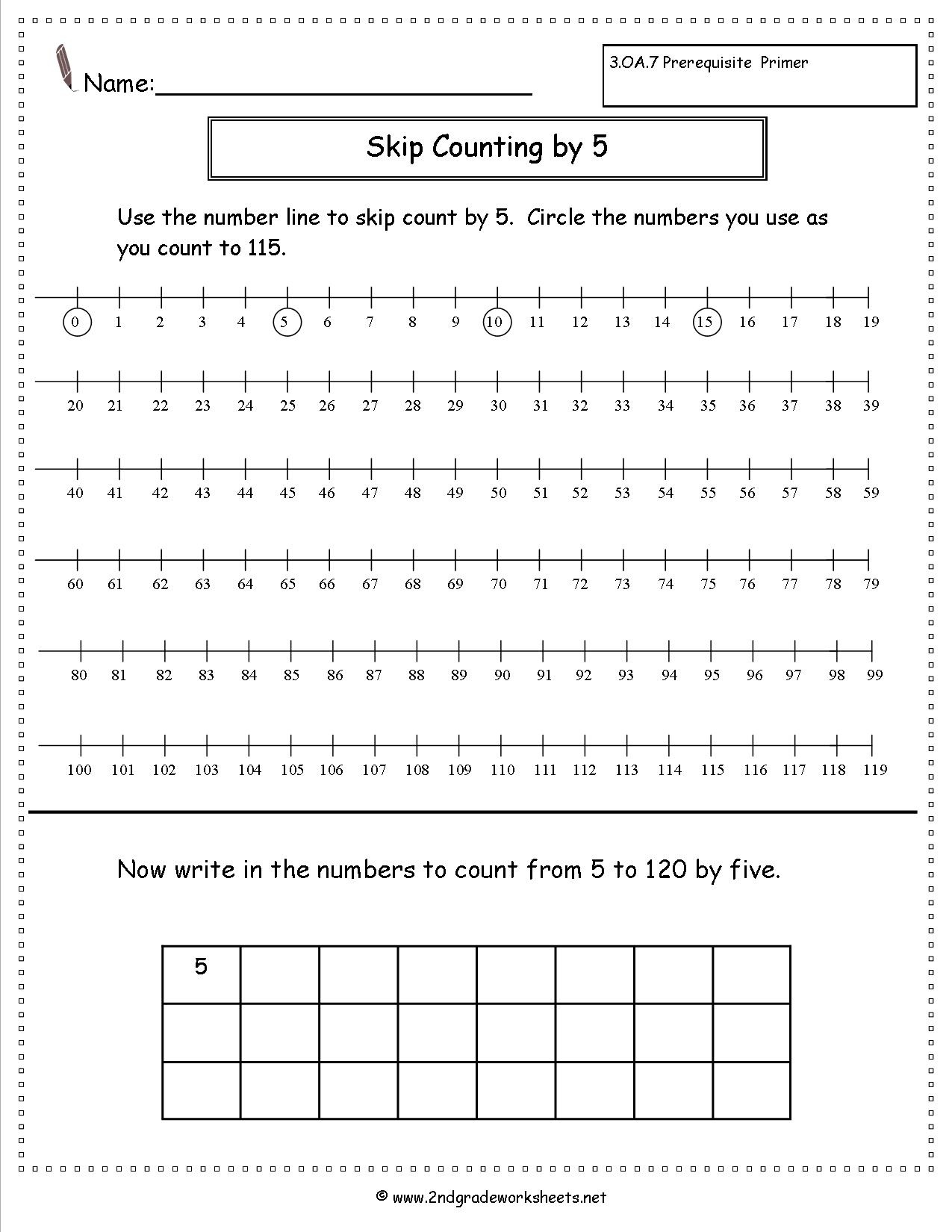 Free Skip Counting Worksheets - Free Printable Skip Counting Worksheets