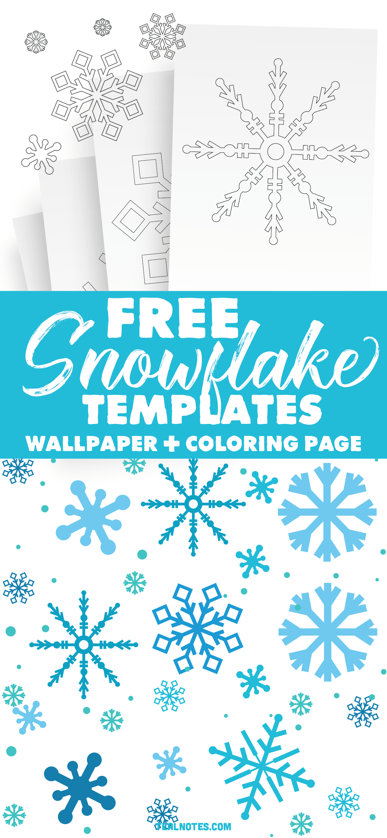 Free Snowflake Template: Easy Paper Snowflakes To Cut And Color - Snowflake Template Free Printable