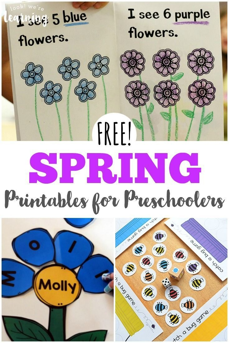 Free Spring Printables For Preschoolers   Spring Activities For Kids - Free Printable Early Childhood Activities