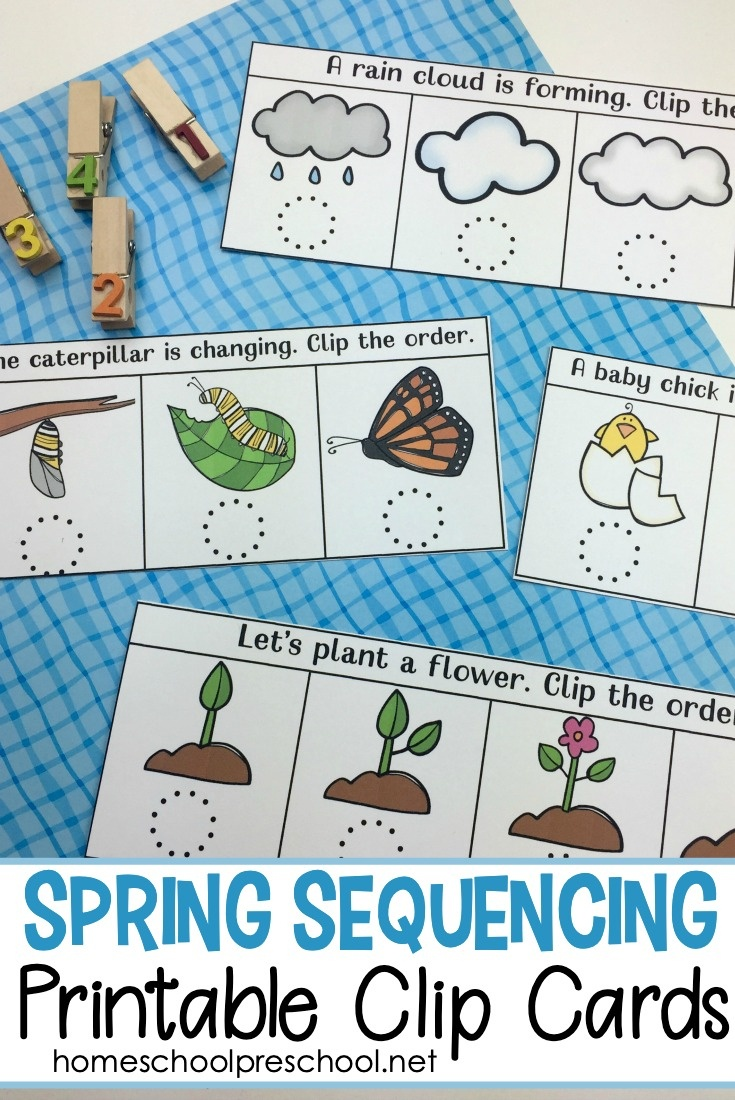 Free Spring Sequencing Cards Printable For Preschoolers - Free Printable Sequencing Cards For Preschool