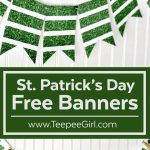 Free St. Patrick's Day Banner | Best Of Teepee Girl! | Free   Free Printable St Patrick's Day Banner