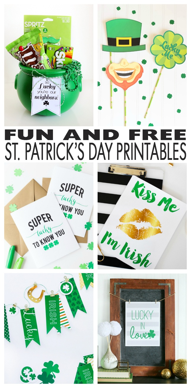 Free St. Patrick's Day Printables! - Eighteen25 - Free Printable St Patrick's Day Banner
