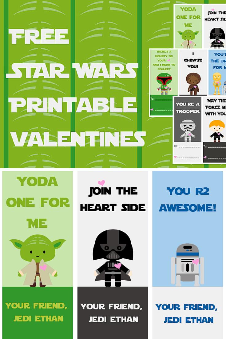 Free Star Wars Printable Valentines - A Grande Life - Star Wars Printable Cards Free