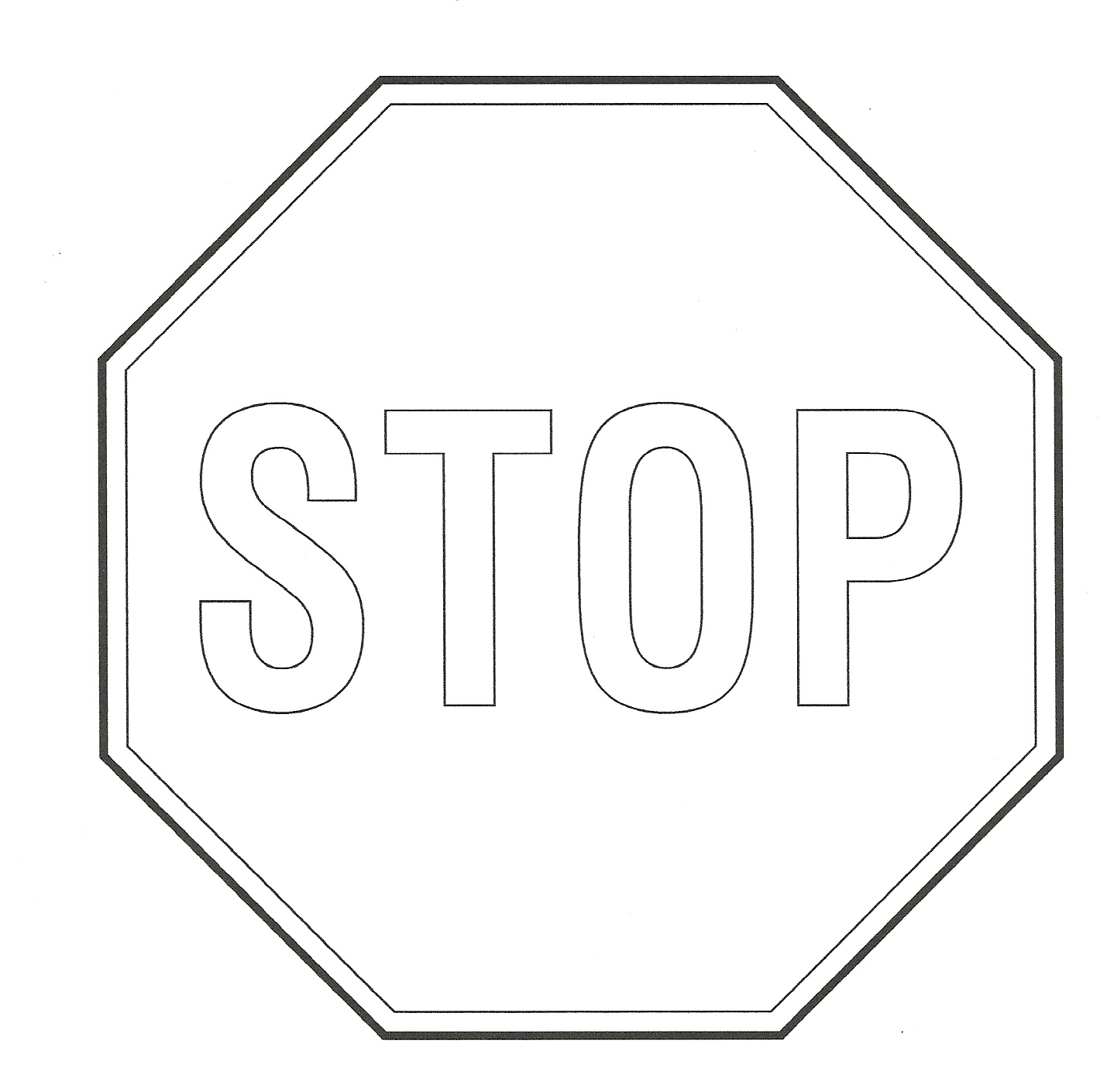 Free Stop Sign Outline, Download Free Clip Art, Free Clip Art On - Free Printable Stop Sign To Color