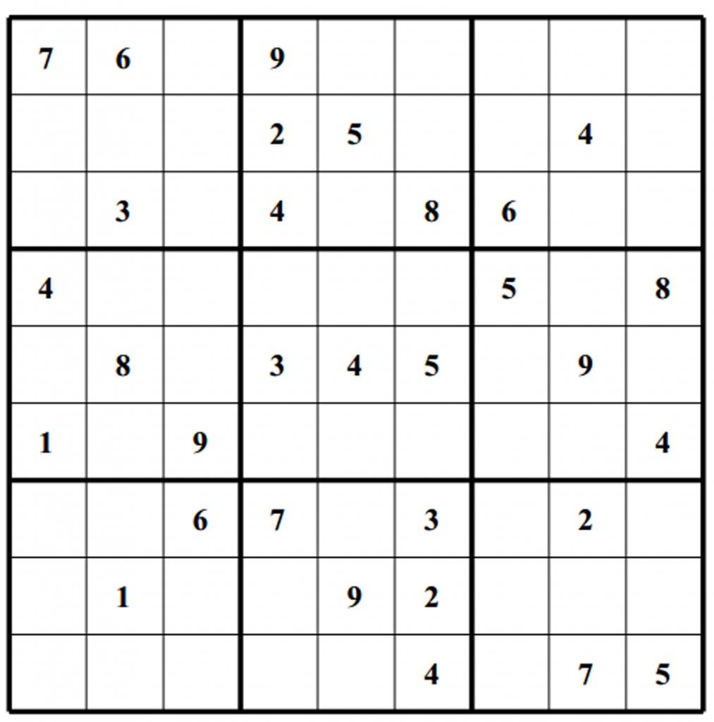 Free Sudoku Puzzles | Enjoy Daily Free Sudoku Puzzles From Walapie - Free Printable Sudoku