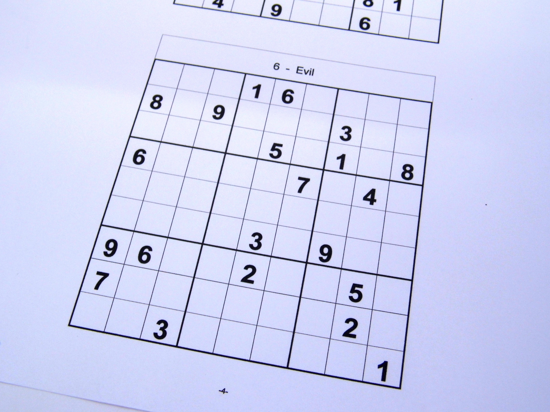 Free Sudoku Puzzles – Free Sudoku Puzzles From Easy To Evil Level - Free Printable Sudoku Books