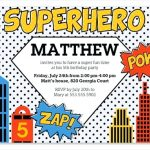 Free Superhero Birthday Invitations Templates   Free Printable Superhero Certificates