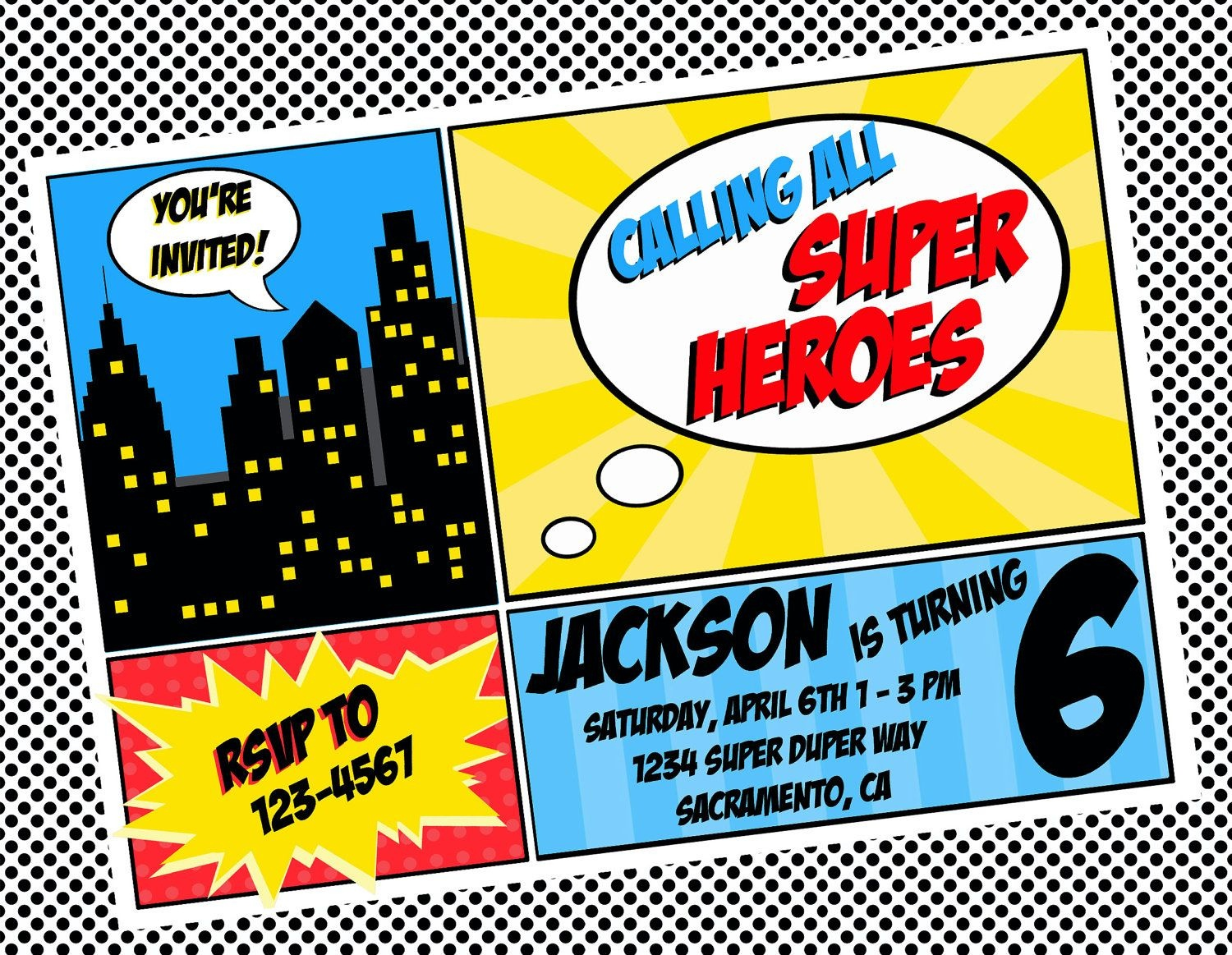 Free Superhero Invitation Templates - Invitation Templates - Free Printable Superman Invitations