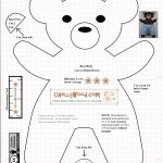 Free #teddybear #plush #toy Pattern @ Chellywood – Free   Free Teddy Bear Patterns Printable