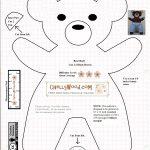 Free #teddybear #plush #toy Pattern @ Chellywood – Free   Free Teddy Bear Patterns Printable