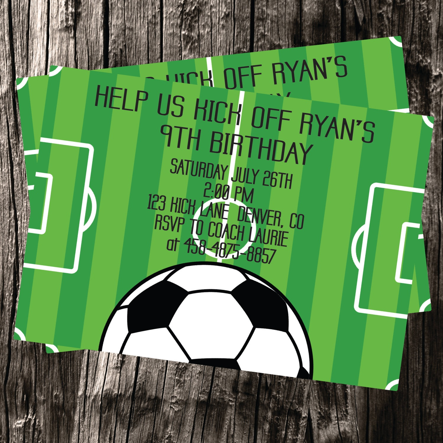 Free Thank You Cards Included Soccer Themed Customized   Etsy - Free Printable Soccer Thank You Cards