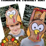 "Free ""thankful"" Turkey Hat Printable For Kids ⋆ Parenting Chaos   Free Printable Thanksgiving Hats"