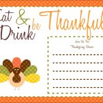 Free Thanksgiving Printables From The Party Bakery | Free Printables   Free Printable Thanksgiving Invitations