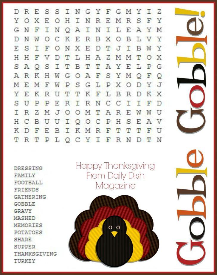 Thanksgiving Games Printable Free