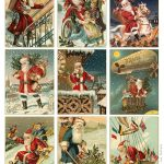 Free To Download! Printable Vintage Santa Tags Or Cards. | Free   Free Printable Vintage Christmas Tags For Gifts