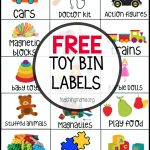 Free Toy Bin Labels   Free Printable Classroom Labels For Preschoolers