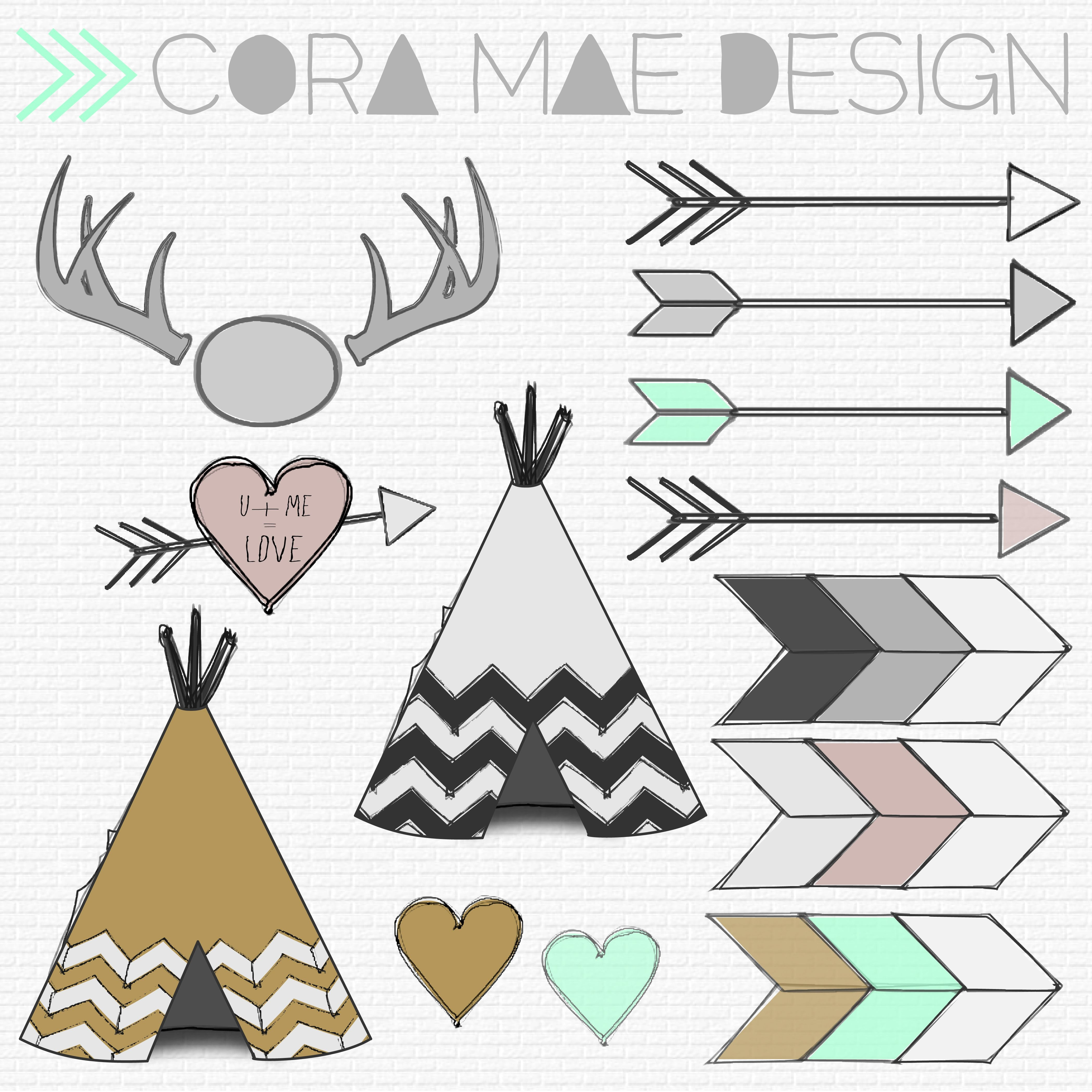 Free Tribal Clipart | Amanda's Baby Shower | Clip Art, Printables, Ideas - Free Printable Teepee