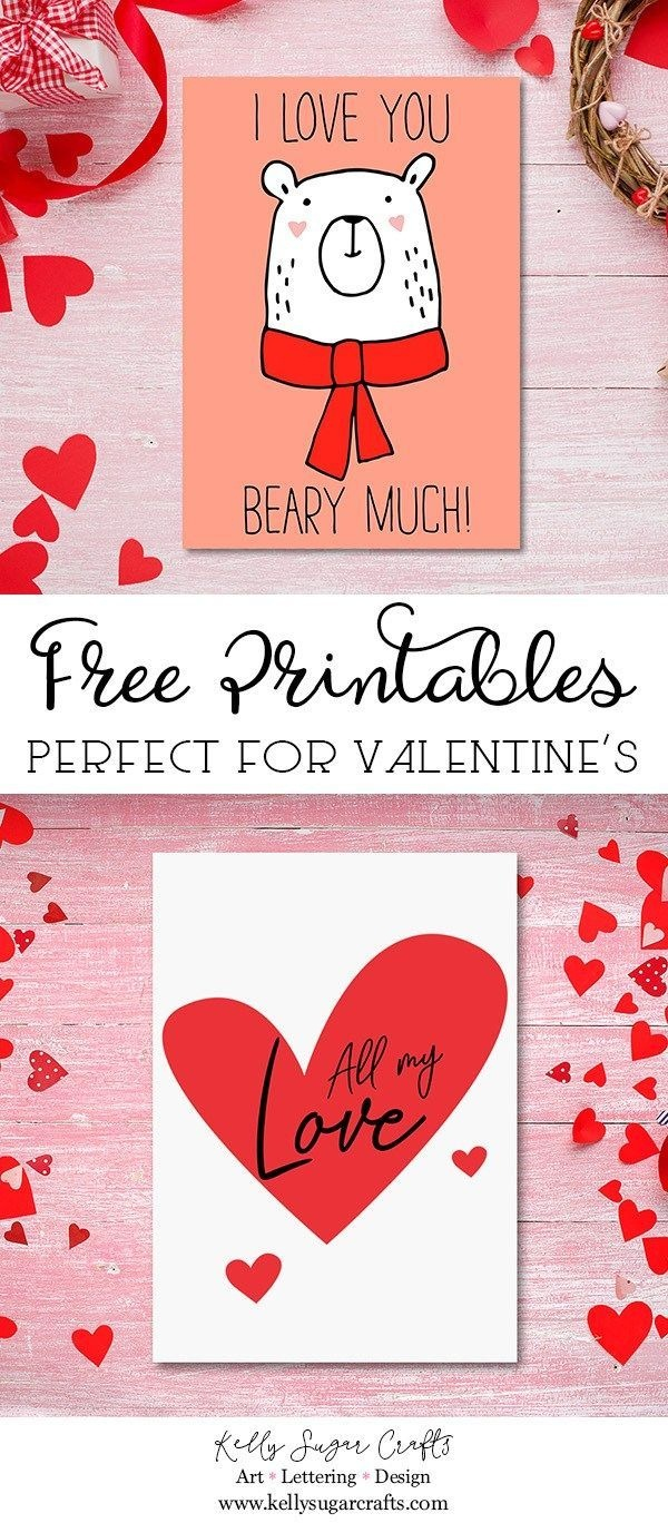 Free Valentine's Day Printable Cards | Free Printable Valentines - Free Printable Valentine Decorations