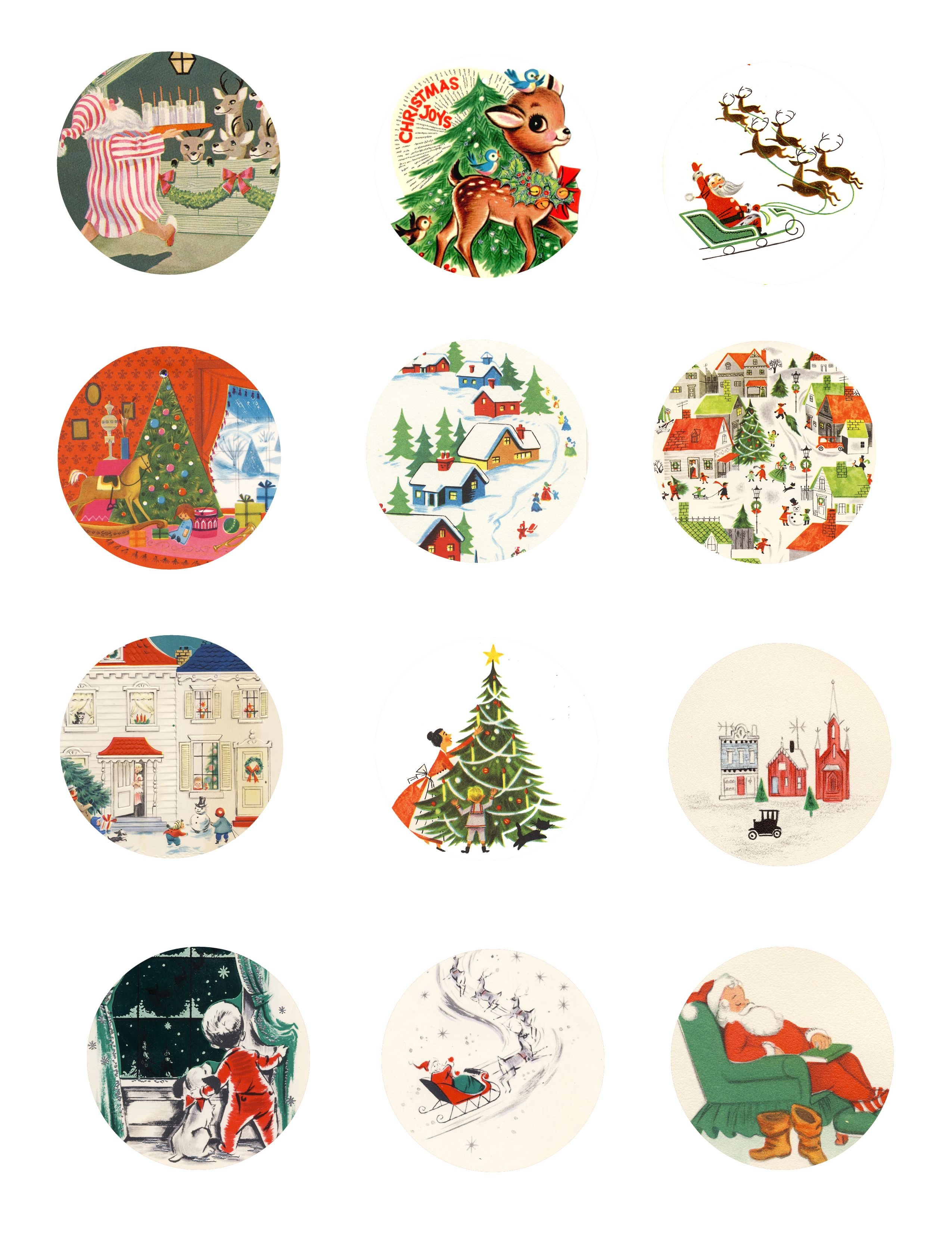Free Vintage Tags    Tags Page 1 791X1024 Free Printable Vintage - Free Printable Vintage Christmas Tags For Gifts