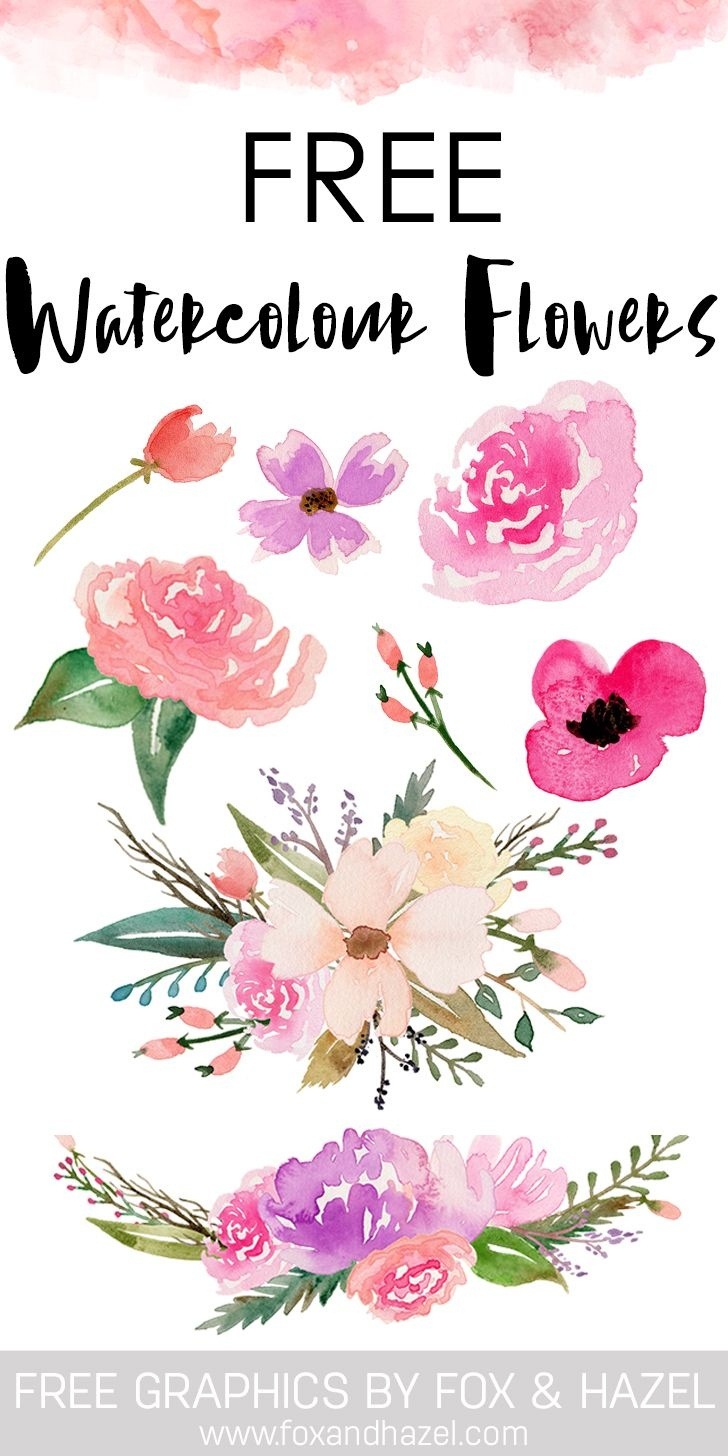 Free Watercolor Flower Graphics From | Watercolor | Free Watercolor - Free Printable Clipart Of Flowers
